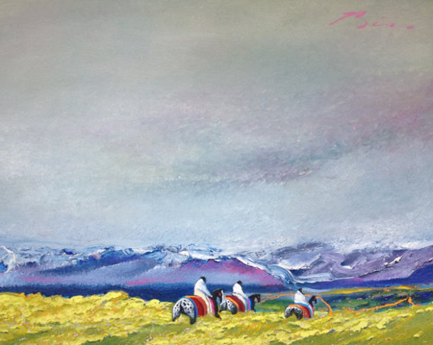 Spring Migration to the High Country 1985 50x62