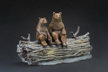 Moonlighters Bronze Sculpture AP 15 in Sculpture - Robert Bissell