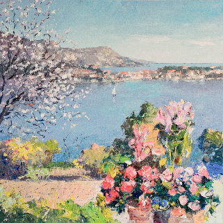 Spring in the French Riviera 39x39 Original Painting - Pierre Bittar