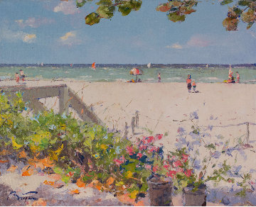 A Naples Breach in Florida 24x28 Original Painting - Pierre Bittar