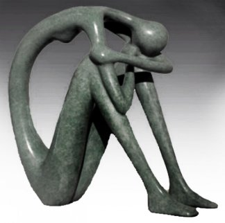 A Time Out to Be Within Bronze 10 in Sculpture - Ruth Bloch