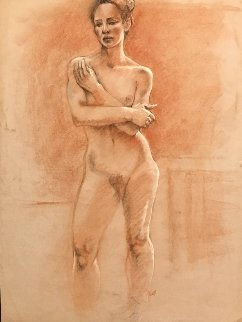 Nude Pastel 1987 25x19 Works on Paper (not prints) - Toby Bluth