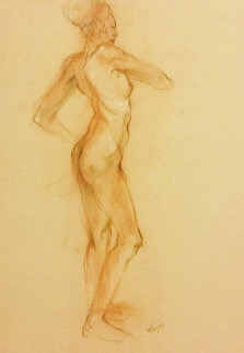 Nude 3, Double-Sided 1987 25x19 Works on Paper (not prints) - Toby Bluth