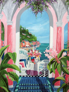From Portofino With Love 2004 Embellished Limited Edition Print - Shari Hatchett Bohlmann