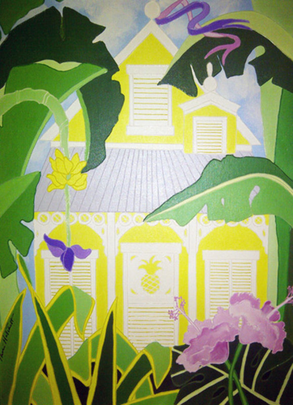 Untitled Plantation House 1984 24x18