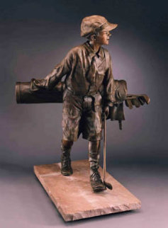 Divot Bronze Sculpture 46 in Sculpture - Bill Bond