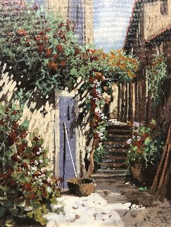 Indaco 16x15 Original Painting - Guido Borelli