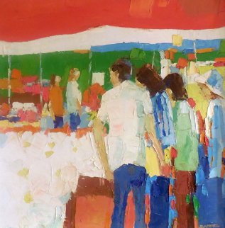 Untitled Bistro 37x37 Original Painting - Italo Botti