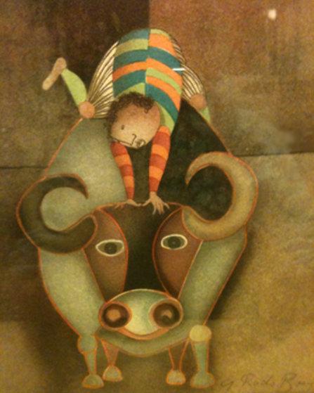 Boy On Bull By Graciela Rodo Boulanger