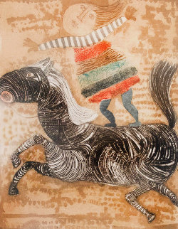 Boy on Horse 1980 Limited Edition Print - Graciela Rodo Boulanger