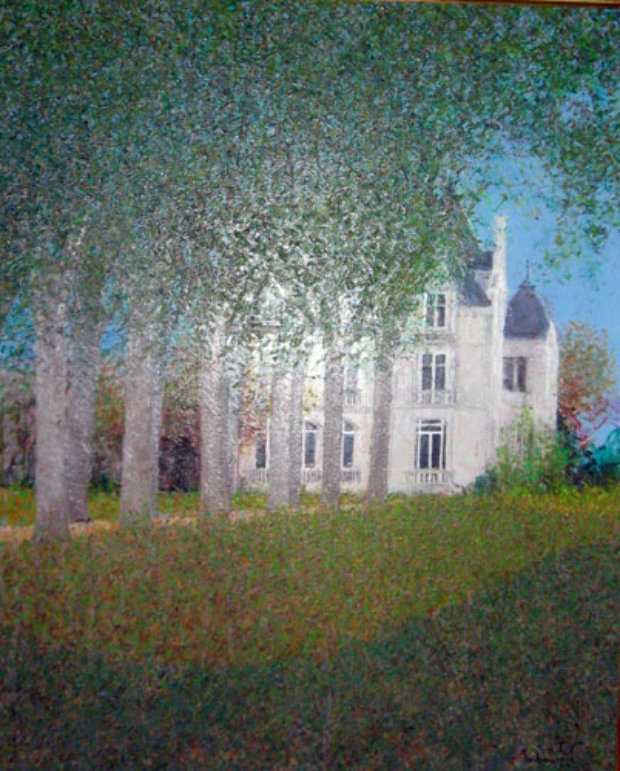 la maison sur le lac 1996 27x31 by andre bourrie