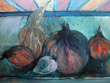 Gourds  1958 22x28 Original Painting - Howard Bradford
