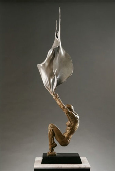 Conception Bronze Sculpture 2005 34 in