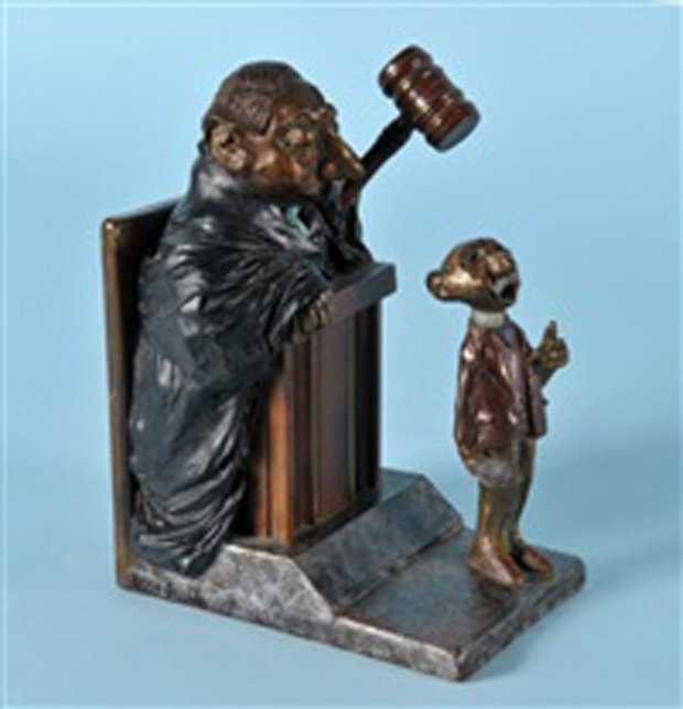 Objection Overruled Bronze Sculpture FP 7 in