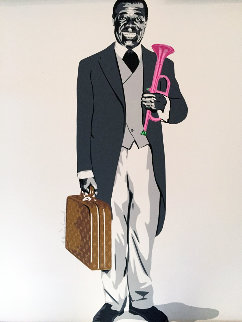 Louis Armstrong Limited Edition Print - Mr. Brainwash