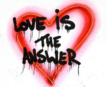 Speak From the Heart (Love is the Answer) 2018 Embellished Limited Edition Print - Mr. Brainwash