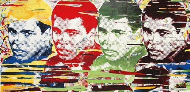 Ali Quad Largest Graphic 2014 37x70 Limited Edition Print by Mr. Brainwash