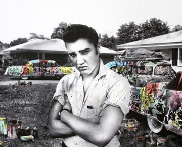 Happy Birthday Elvis! - Cadillac King 2019 Embellished Limited Edition Print - Mr. Brainwash