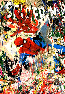 Spiderman 2019 Embellished Limited Edition Print - Mr. Brainwash
