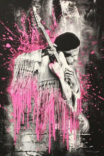 Jimi Hendrix (Pink) 2015 Limited Edition Print - Mr. Brainwash