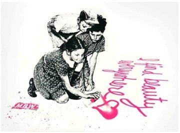 I Find Beauty Everywhere 2010 Limited Edition Print - Mr. Brainwash