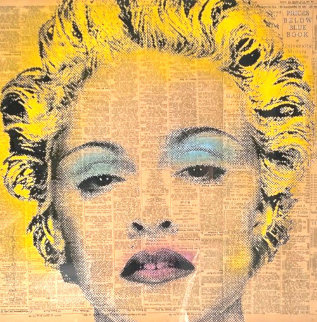 Madonna 2009 27x27 Original Painting - Mr. Brainwash