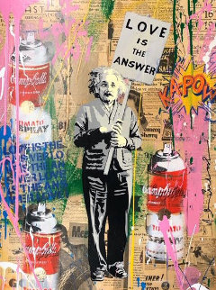 Einstein 2019 30x22 Original Painting - Mr. Brainwash