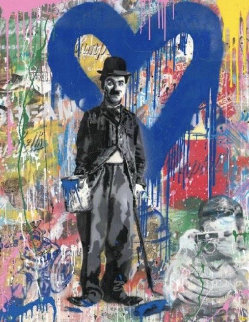 Chaplin 2019 50x38 Original Painting - Mr. Brainwash