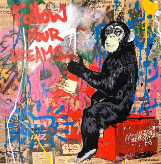 Every Day Life  2019 22x22 Original Painting - Mr. Brainwash
