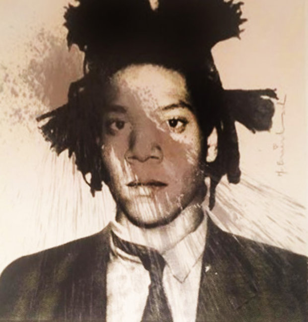 Basquiat Self-Portrait for Frank Sinatra 2013  Unique 29x36
