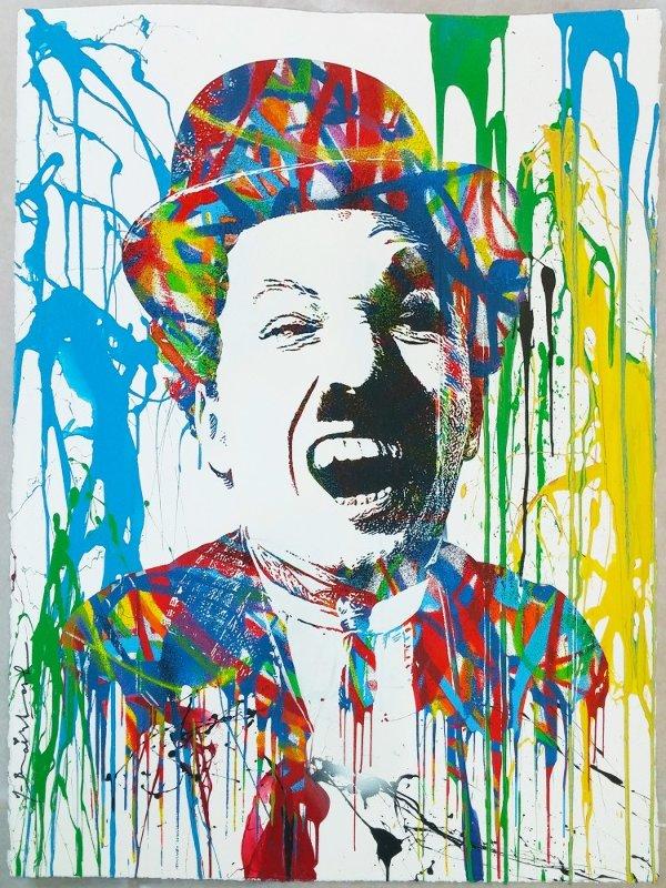 Charlie chaplin 2013 by mr brainwash for Mural by mr brainwash