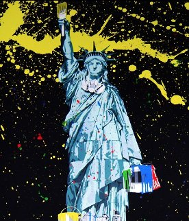 Statue of Liberty 2010 30x22 Limited Edition Print by Mr. Brainwash