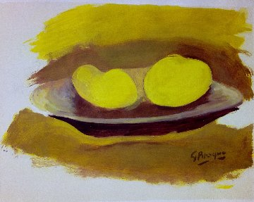 Les Pommes 1974 Limited Edition Print - Georges Braque