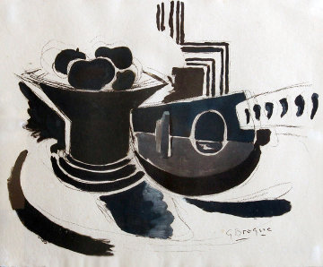 Le Mandoline From the Espace Portfolio 1957 Limited Edition Print - Georges Braque