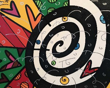 Untitled (MIX) Painting 2006 39x45 Original Painting - Romero Britto