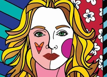 Madonna 2012 75x105 Mural Other - Romero Britto