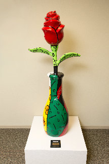 Rose Kennedy Rose 64 in Sculpture - Romero Britto