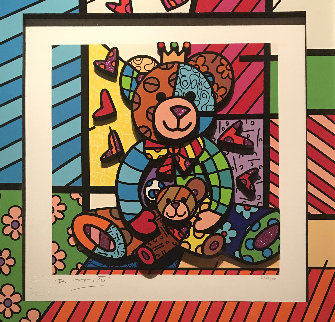 Teddy 3-D 2017 Limited Edition Print - Romero Britto