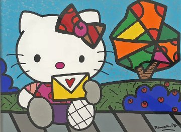 Love Letter 2012 31x37 Original Painting - Romero Britto