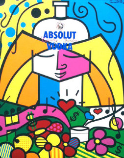 Absolut 1990 Limited Edition Print - Romero Britto