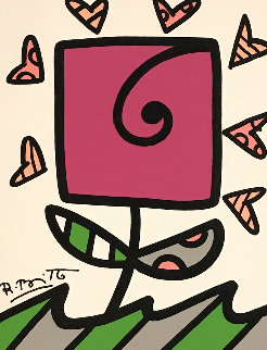 Growing 2014 24x21 Original Painting by Romero Britto