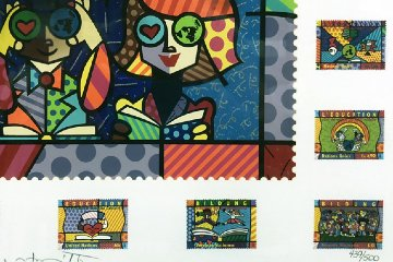 Educating the World  1990 Limited Edition Print - Romero Britto