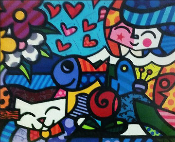 Squeaki's World 2005 Limited Edition Print - Romero Britto