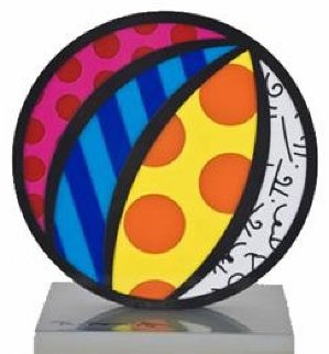 Valentines Heart, Beach Ball, Boom Fish And Big Apple, Set of 3 Iron Sculptures 2003  10 i Sculpture - Romero Britto