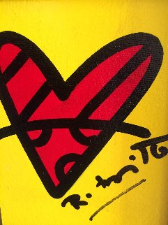 With Love 2017 14x13 Original Painting - Romero Britto