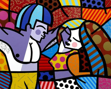 First Love Limited Edition Print - Romero Britto