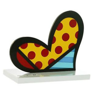Valentines Heart, Boom Fish And Big Apple, Set of Three Acrylic and Enamel Scuptures, 10 i Sculpture - Romero Britto