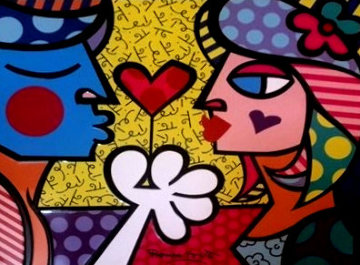 Metal Lunch Box and Britto Woman Love is in the Air Perfume 1997 Other - Romero Britto