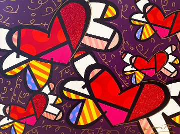 Love is in the Air 2009 Limited Edition Print - Romero Britto