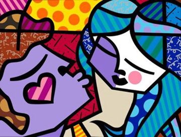 Sweet Kisses 2007 Limited Edition Print - Romero Britto